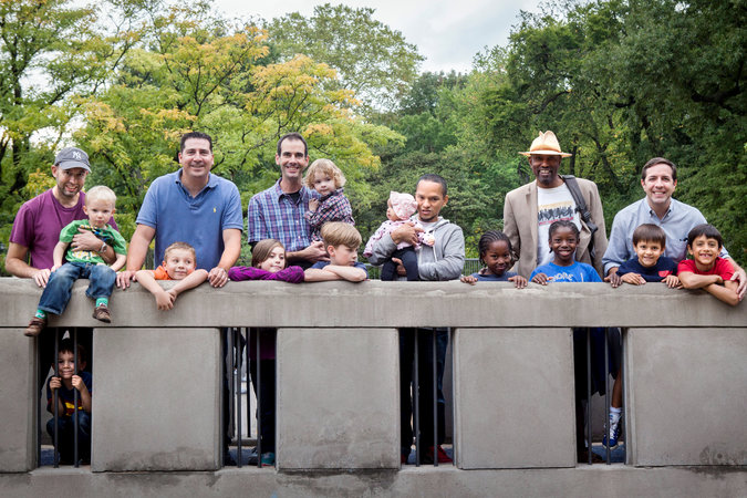 A group of fathers and their children meet weekly in New York for outings, including to the Ancient Playground in Central Park. Credit Katie Orlinsky for The New York Times